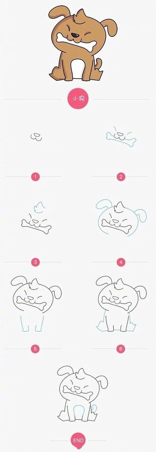 又一波可爱小动物简笔画,一定有你喜欢的,无聊时和孩子一起画画