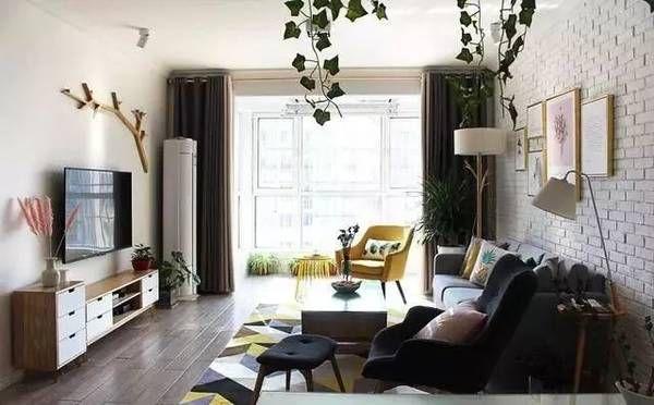 北欧风格客厅壁柜