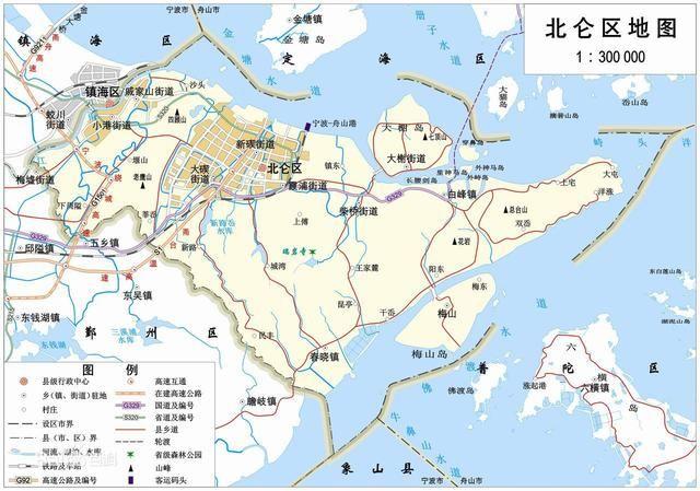 舟山旅游地图高清版