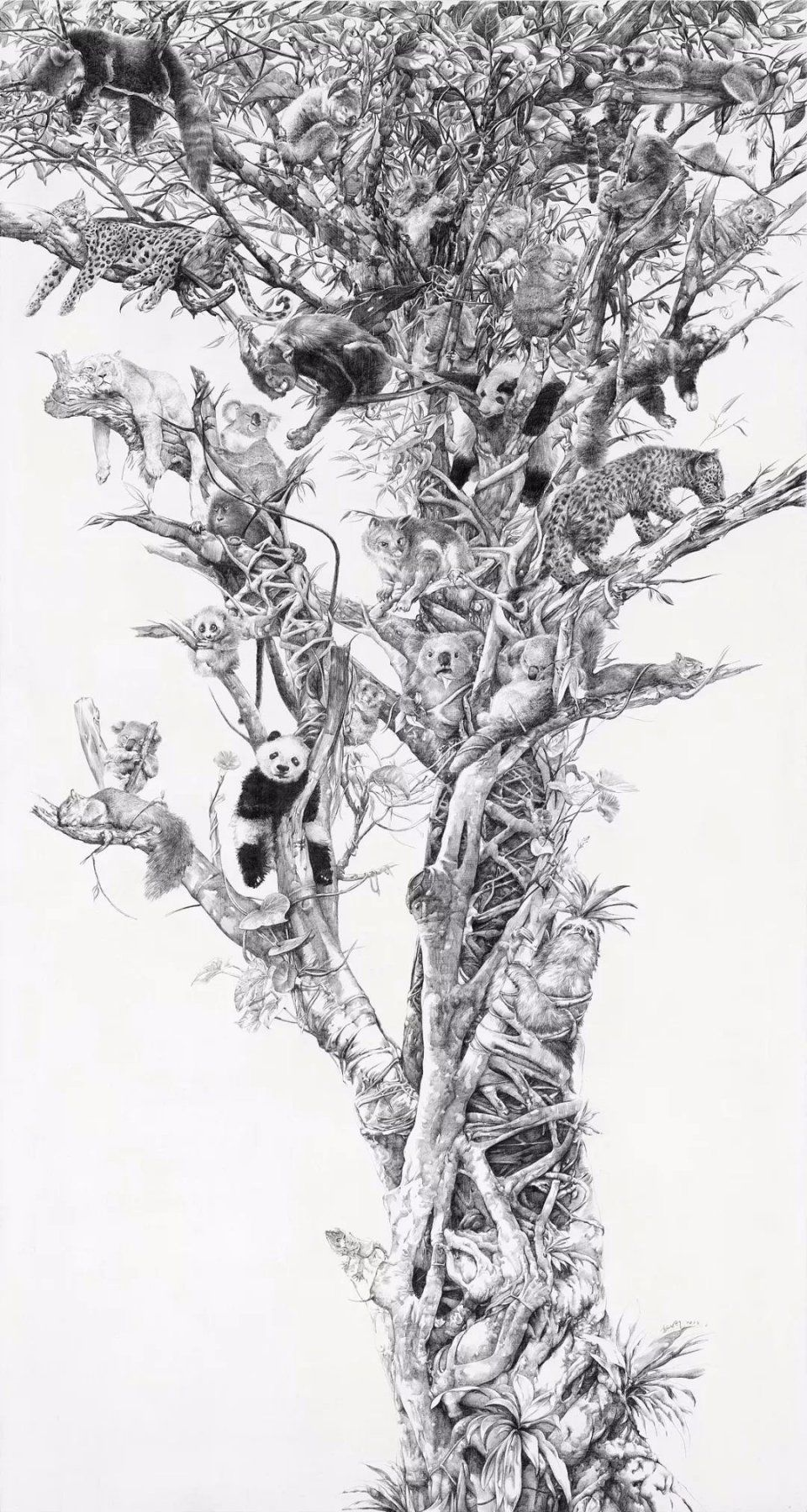 央美才女的钢笔素描画,精细到让人震惊又害怕