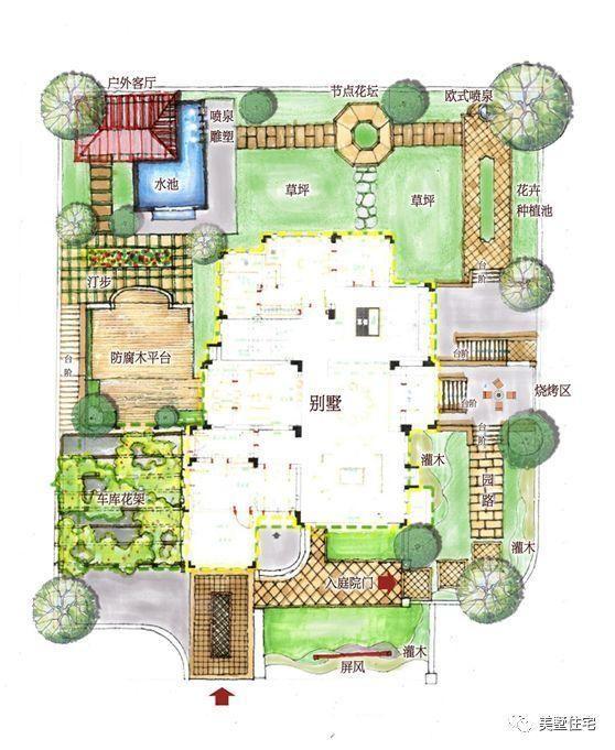 36款庭院设计图,款款经典,不收藏就亏了