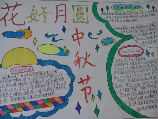 小学生中秋节手抄报与黑板报大全,近50张图片每一张都是精选图片