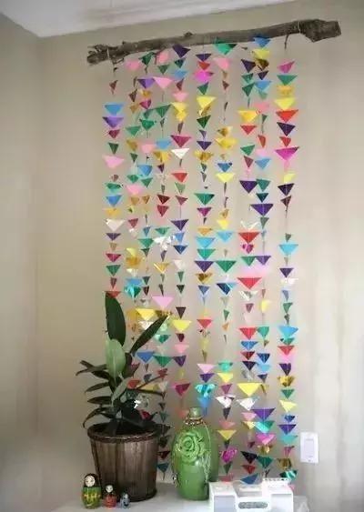 幼儿纸手工制作窗帘