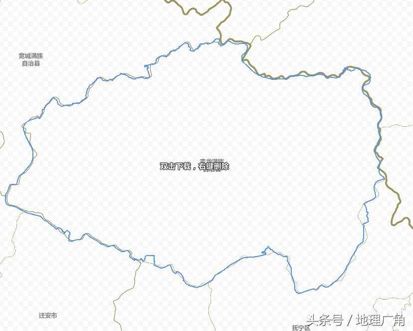 秦皇岛市行政区划地图