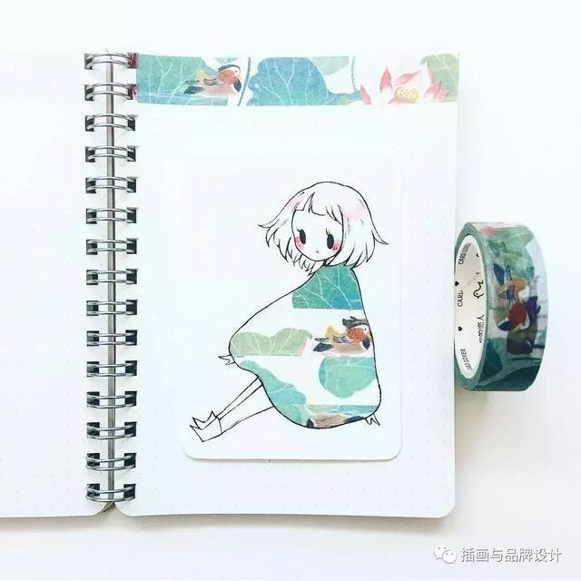 插画丨美爆了!超可爱纸胶带简笔画少女,一起来