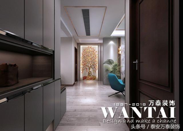 泰安鲁商国际社区装修效果图-入户走廊玄关,鞋帽柜