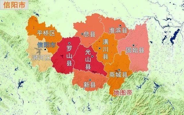 信阳市为何属于河南省,而不划给湖北