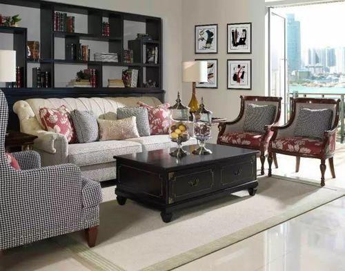 彩色手绘线条感沙发