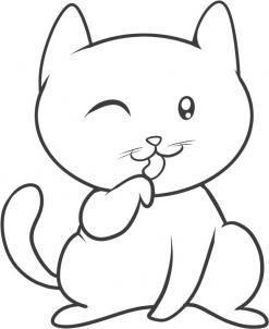 小狗,小猫,毛毛虫等可爱动物简笔画,适合3岁到7岁小朋友画画!图片