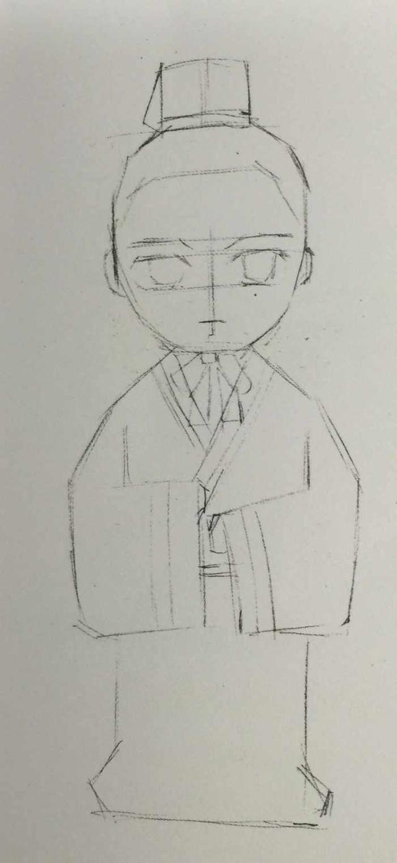q版古风娃娃手绘,简单完整步骤教程
