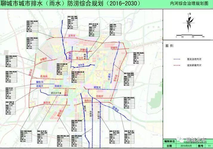 聊城西关街规划结构图