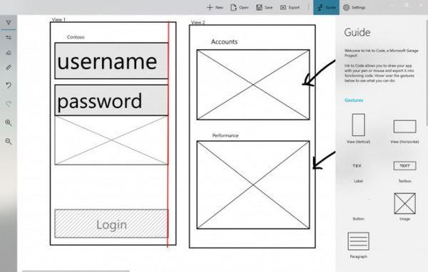 微软车库项目Ink to Code:UI草图转换为代码过程 1