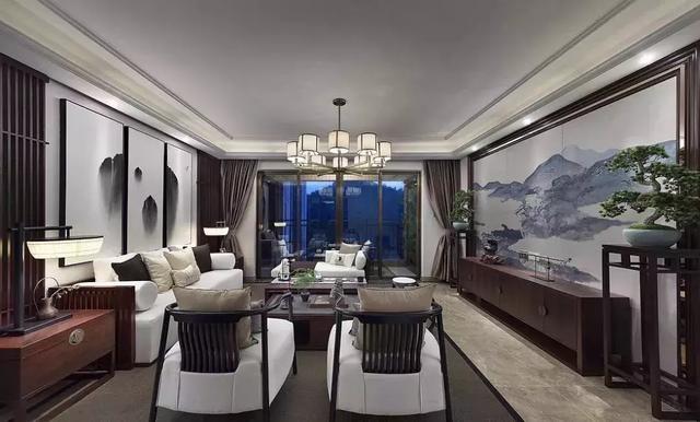 中式,欧式和美式风格的客厅窗帘搭配案例,了解一下