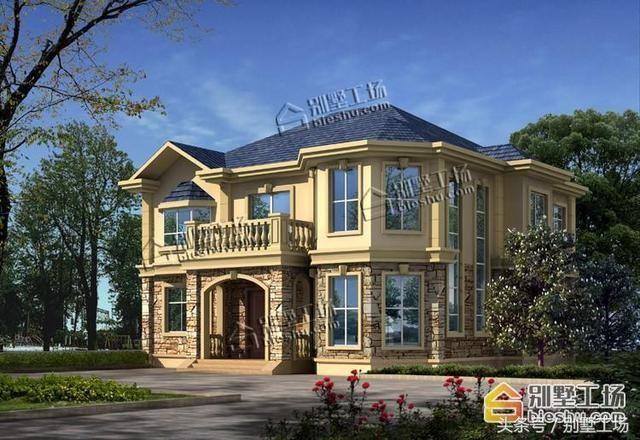 新中式三层复式自建别墅设计带堂屋