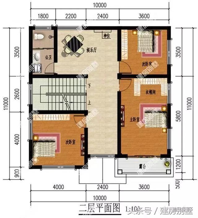 1011米平顶设计的二层别墅,造价不到20万,建两栋都不贵图片