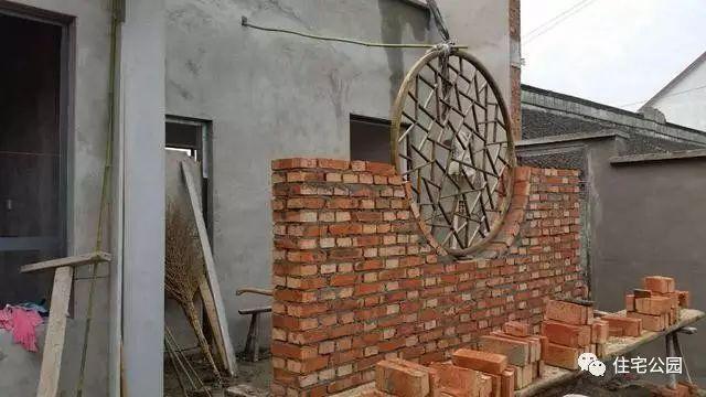 红砖围墙效果图