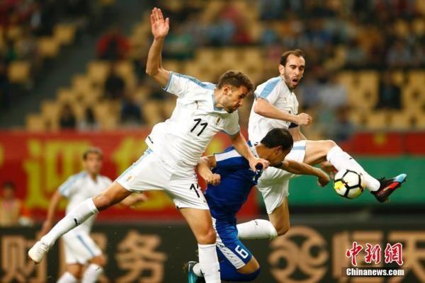 2019中国杯足球赛 乌拉圭3:0胜乌兹别克斯坦