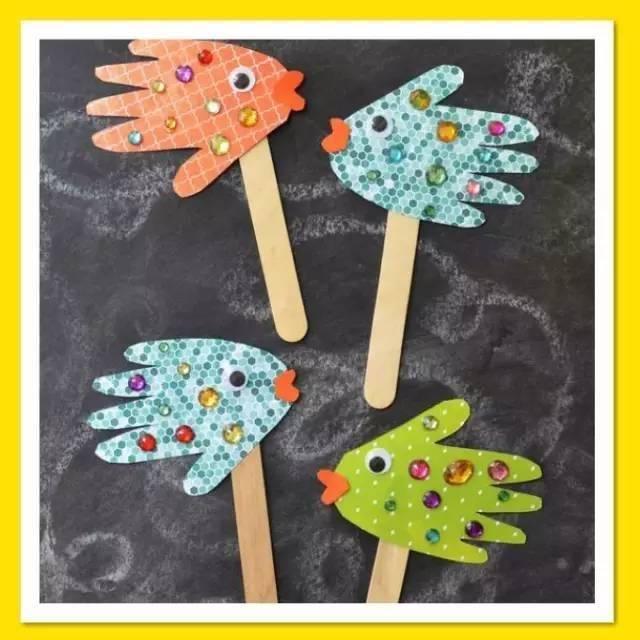 手工diy|小孩子玩的手掌手工作品,创意无限!