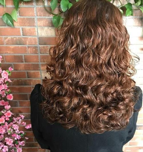 适合四五十岁长发a长发又有弹性的中卷烫发短发仓木结衣发型图片