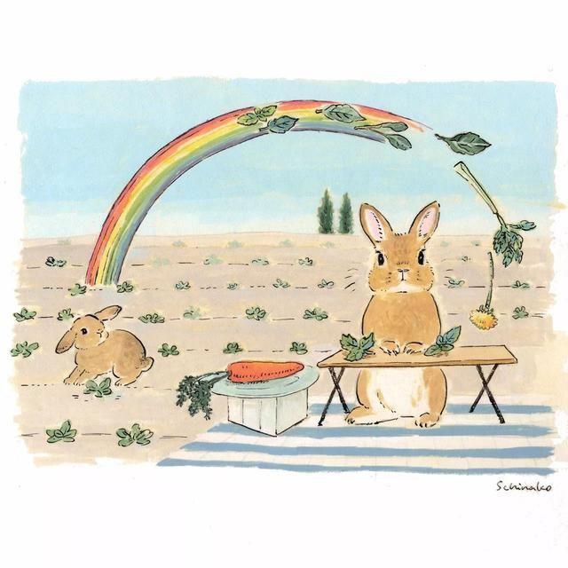 既然会画画,那为什么不画画自己喜欢的东西呢?日本的Schinako对兔子热爱至深,用她手中的美术颜料画了一堆画,当然,全都跟兔子有关。其实,这样说起来也并不过分啊,毕竟兔兔这么可爱,成为画中主角也是很正常的事情嘛!